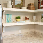 how fixer upper style your home open shelving the hazel kitchen shelves floating diy using brackets harper house garage organization systems avocado wood wall mounted plans small 150x150