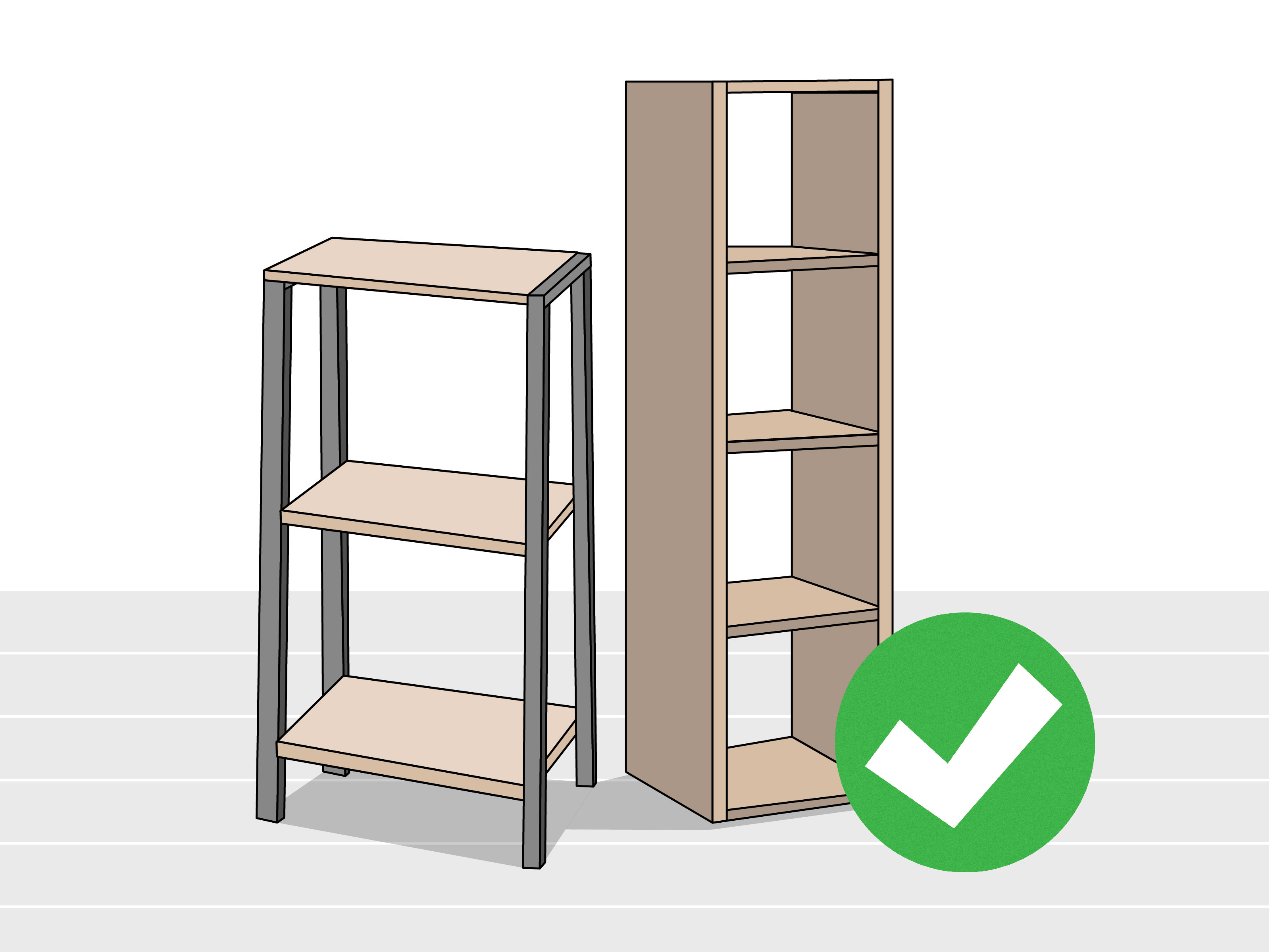 how hang shelves without nails steps with tures step floating screws nice computer desks for home vintage corner wall shelf small space bathroom ideas hanging storage real wood