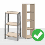 how hang shelves without nails steps with tures step floating using command strips corner shelf board weathered wall bookshelf simple design kmart bedside table narrow kitchen 150x150