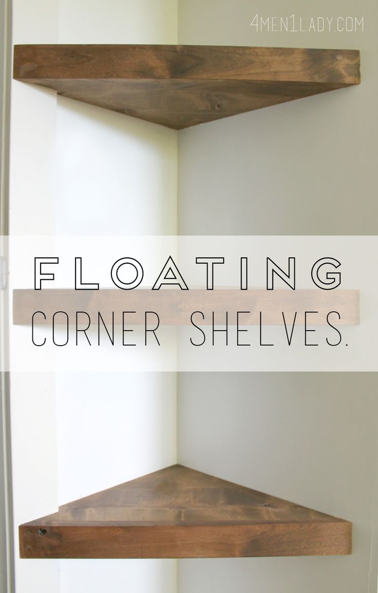 how make corner floating shelves detailed instructions home wood shelf indoor storage small desk garage organization products rolling island cart cabinets and ikea black wall unit