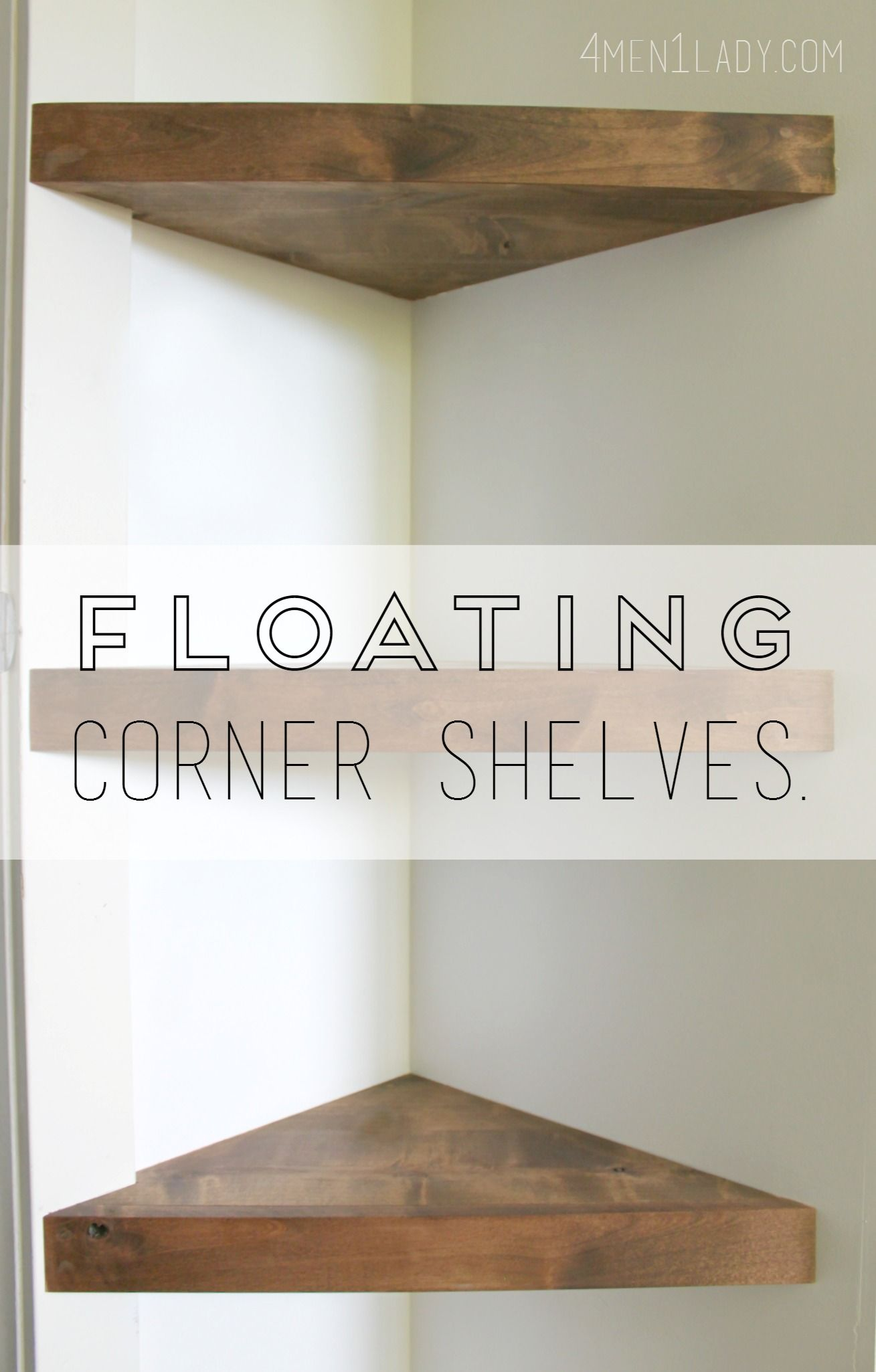 how make corner floating shelves detailed instructions metal shelf ontario pottery barn mirror with shoe dresser putting plasterboard computer cupboard inch mitre garage storage