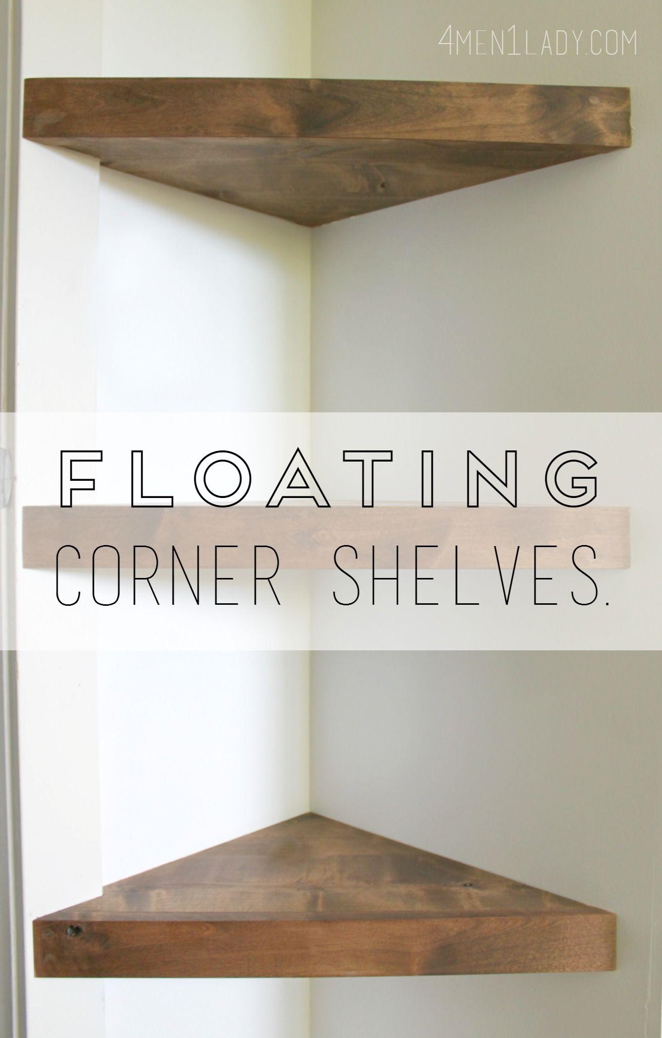 how make corner floating shelves detailed instructions metal shelf ontario pottery barn mirror with shoe dresser putting plasterboard computer cupboard inch mitre garage storage