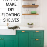 how make diy floating shelves live free creative green cabinets small kitchen reveal pin building for determine length and depth stand cable box dvd player contemporary mantels 150x150