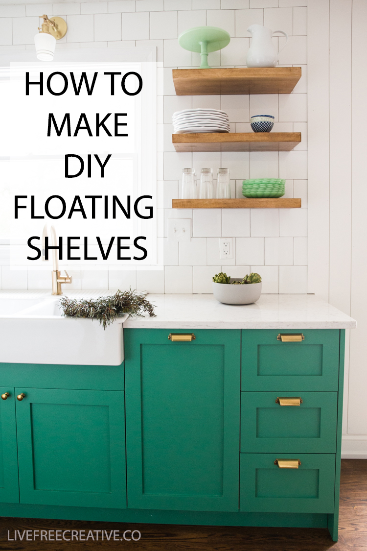 how make diy floating shelves live free creative green cabinets small kitchen reveal pin determine length and depth simple shelf brackets command mirror hangers black gloss white