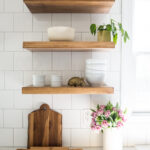 how make diy floating shelves live free creative green cabinets small kitchen reveal was tricky find exactly what looking for the stain and length that wanted did any self 150x150