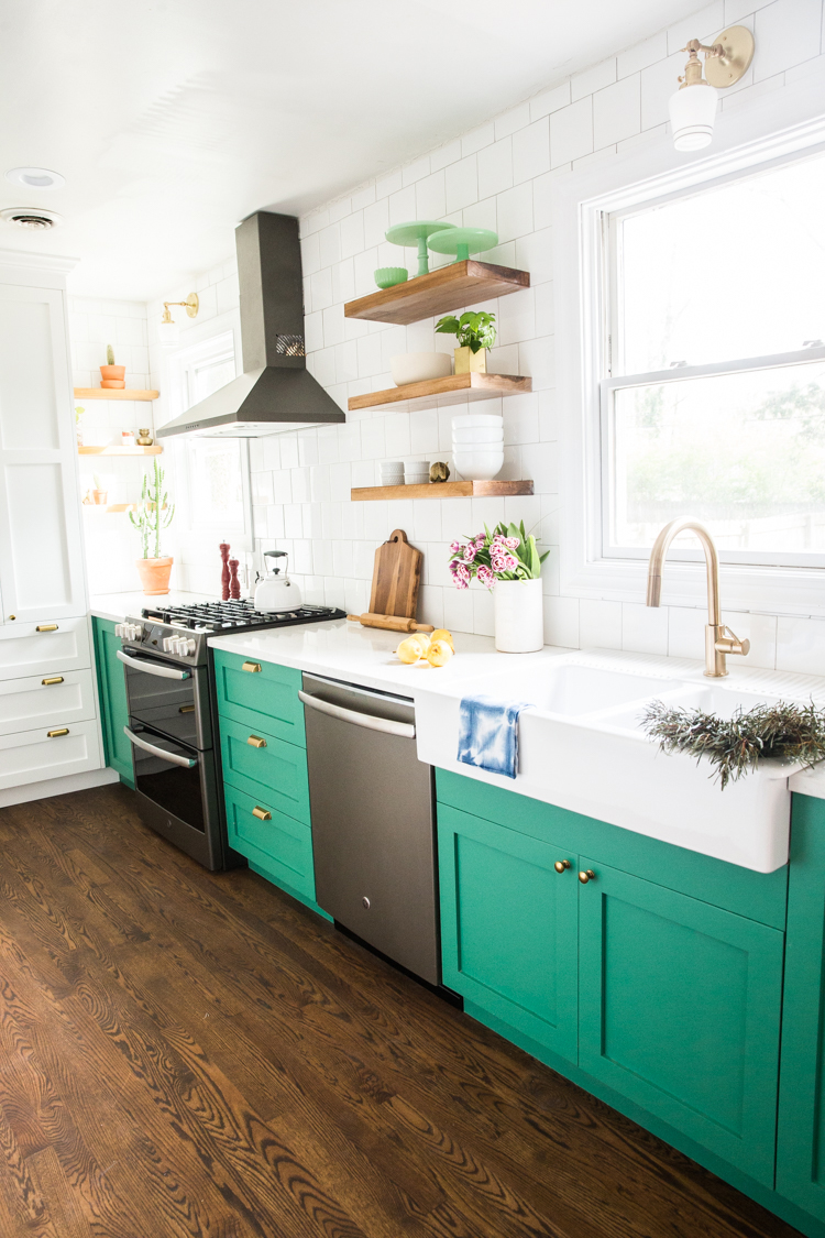 how make diy floating shelves live free creative green cabinets small kitchen reveal white the shelf depth one reasons chose own because most found maxed out around deep which