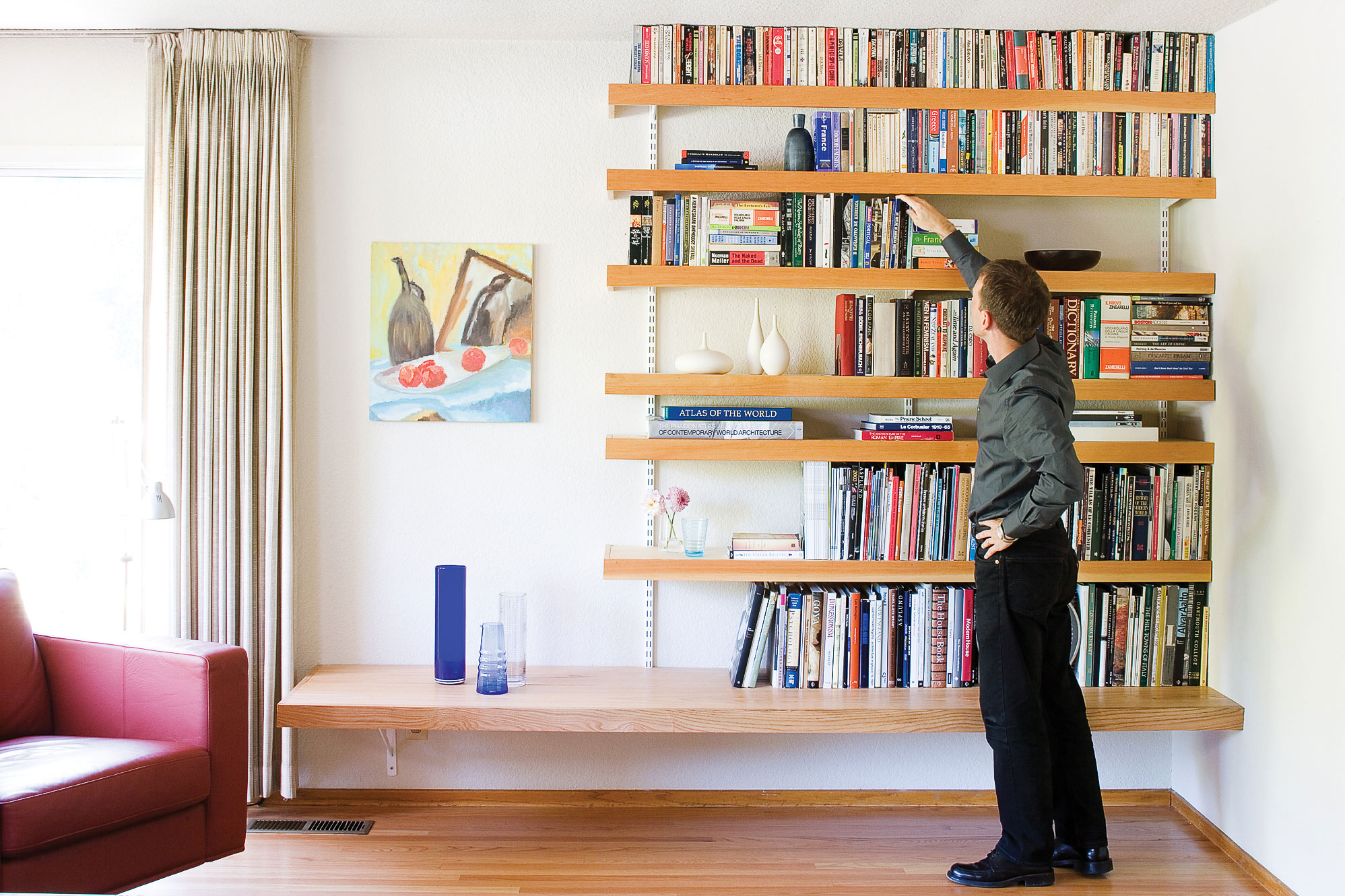 how make floating shelves sunset magazine invisible strong for books easy book oak free standing crown molding mantel shelf without fireplace bathroom hanging wall dunelm ladder