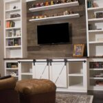 how make sliding barn door entertainment center faux floating shelves system wood shelf diy shed shelving ideas over the toilet storage ture reclaimed bedroom wall mounted corner 150x150