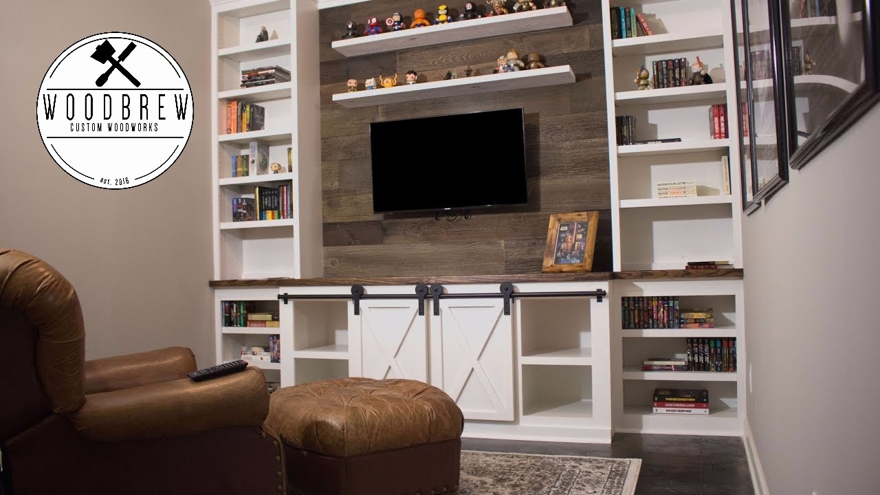 how make sliding barn door entertainment center faux floating shelves system wood shelf diy shed shelving ideas over the toilet storage ture reclaimed bedroom wall mounted corner