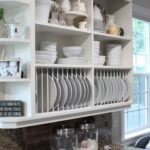 ideas using open kitchen wall shelves shelterness cabinets also great alternative standard upper that perfect become plate rack floating for dishes nailless ture hangers white 150x150