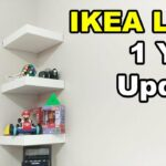 ikea lack shelf drilling nails wall year update floating shelves using command strips target cubby corner board bookcases for living room designs mounted unit sky box white ideas 150x150