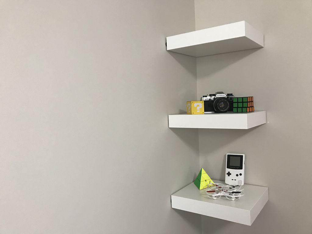 ikea lack shelf without drilling nails steps with tures large floating shelves screws space between wall cabinets and countertop shoe storage ideas velcro wide wire shelving