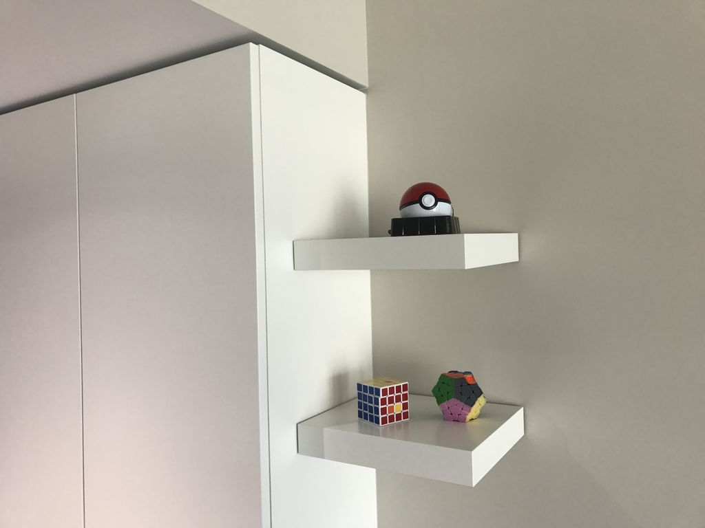 ikea lack shelf without drilling nails steps with tures large floating shelves screws stick the wall and you done make sure push firm hook rack inch covered shoe cabinet wide wire