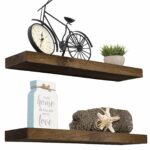 imperative decor floating shelves rustic wood wall shelf dark usa handmade set walnut home kitchen board over bath storage rack wooden island wheels video shelving build your own 150x150