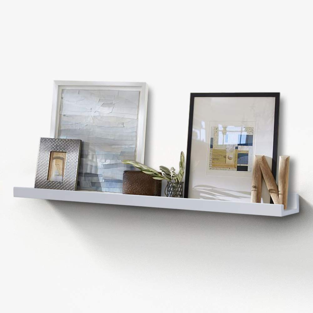 inart ture ledge wall shelf for frame display floating shelves frames inch deep white home kitchen wooden corner stand storage racks command strips heavy rustic brass bracket and