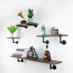 industrial pipe floating shelf rustic vintage display rack shelves wall from att hardware dhgate boxes ceiling hanging brackets open kitchen shelving round ikea clothes hook black 150x150