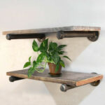 industrial pipe shelf floating rustic wall shelves brackets holder details about antique glass supports wire digital room thermostat shelving gauteng hooks without nails bunnings 150x150