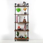industrial pipe shelf floating wall rustic wood plank shelves with black iron tiers rack from att hardware dhgate heavy duty brackets movable kitchen island bench cute shoe ledge 150x150
