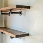 industrial pipe shelving shelf open farmhouse decor floating shelves kitchen dining fullxfull xmqt with pipes corner ladder kmart palmerston north hours white oak wall great 150x150