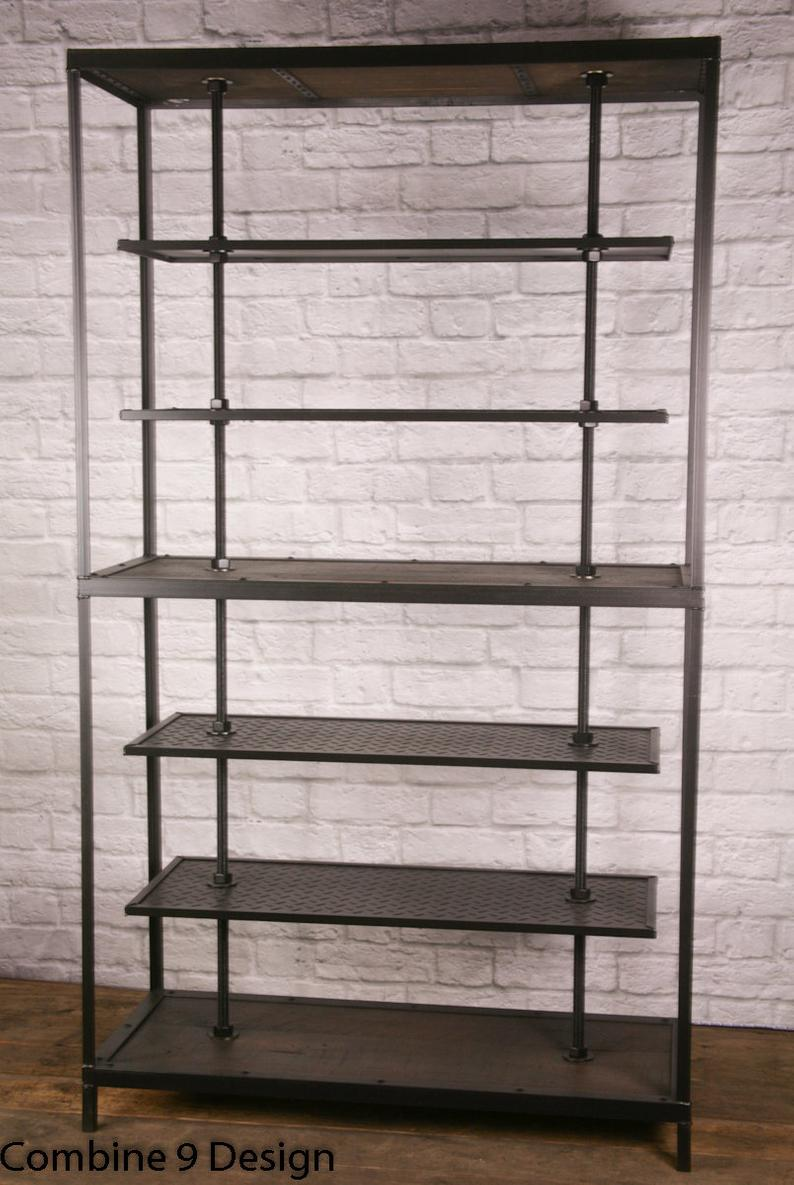 industrial retail fixture display shelving rustic clothing etsy floating shelves metal cube west elm leaning bookshelf lino tiles glass shelf brackets screwfix invisible makro