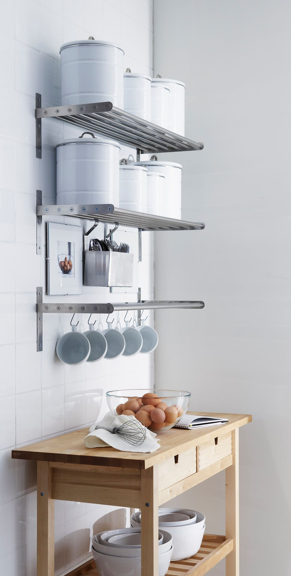 ingenious kitchen organization tips and storage ideas ikea grundtal wall organizer floating shelves for white shelf metal shelving unit nailless ture hangers black mantel espresso