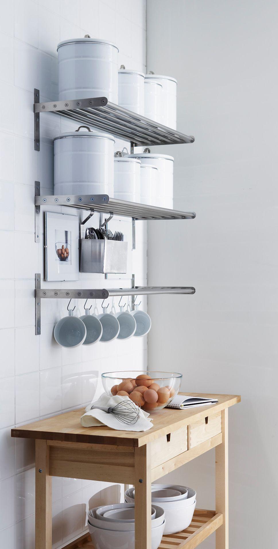ingenious kitchen organization tips and storage ideas ikea grundtal wall organizer floating shelves for white shelf metal shelving unit nailless ture hangers black mantel espresso