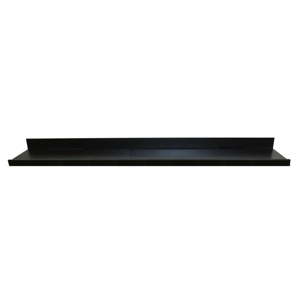inplace black mdf large ture decorative shelving accessories steel floating shelf ledge wall wood closet entry table ideas white floaters brackets laying peel and stick floor tile