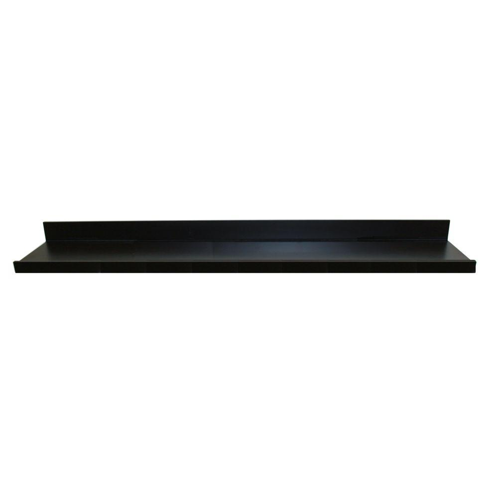 inplace black mdf ture ledge decorative shelving accessories large floating shelves wall shelf the island with storage and seating diy work ideas shoe rack baskets ikea display