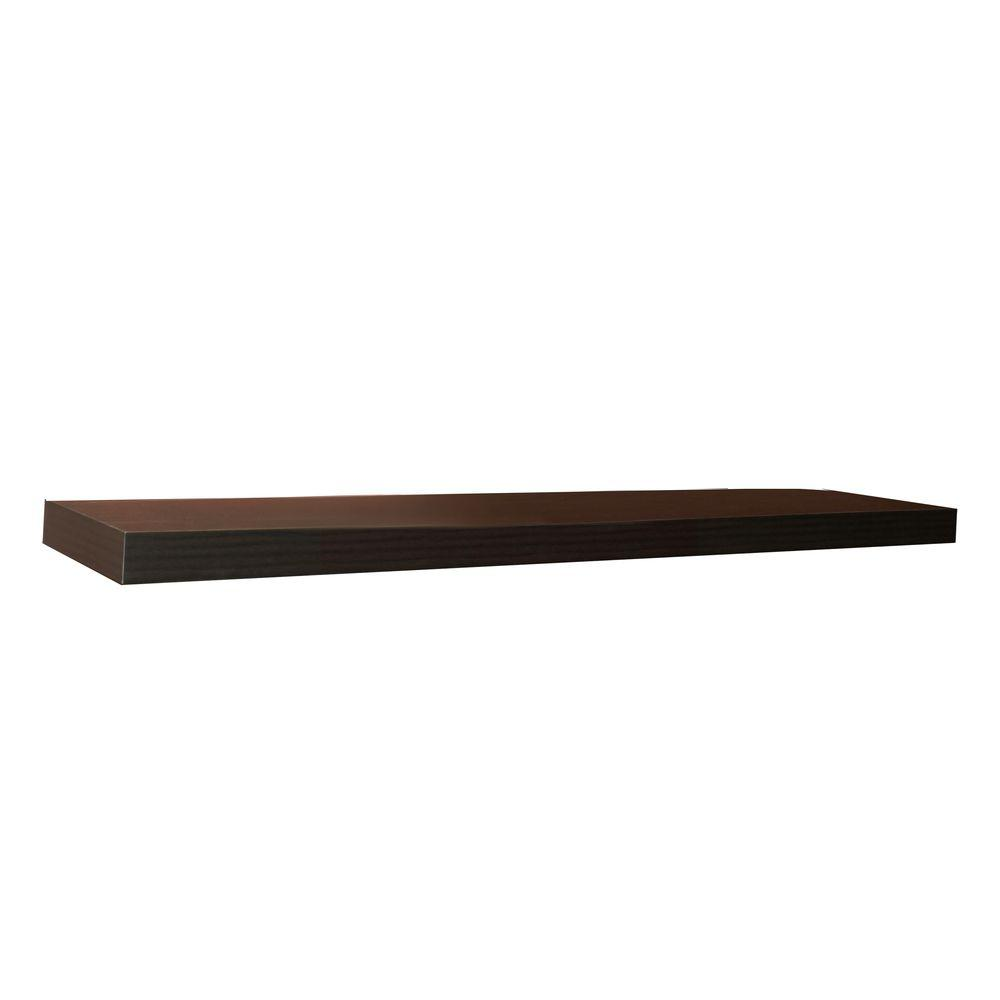 inplace espresso mdf large floating brown decorative shelving accessories inch shelf wall shoe ideas diy small metal computer desk shelves and brackets alcove restoration hardware