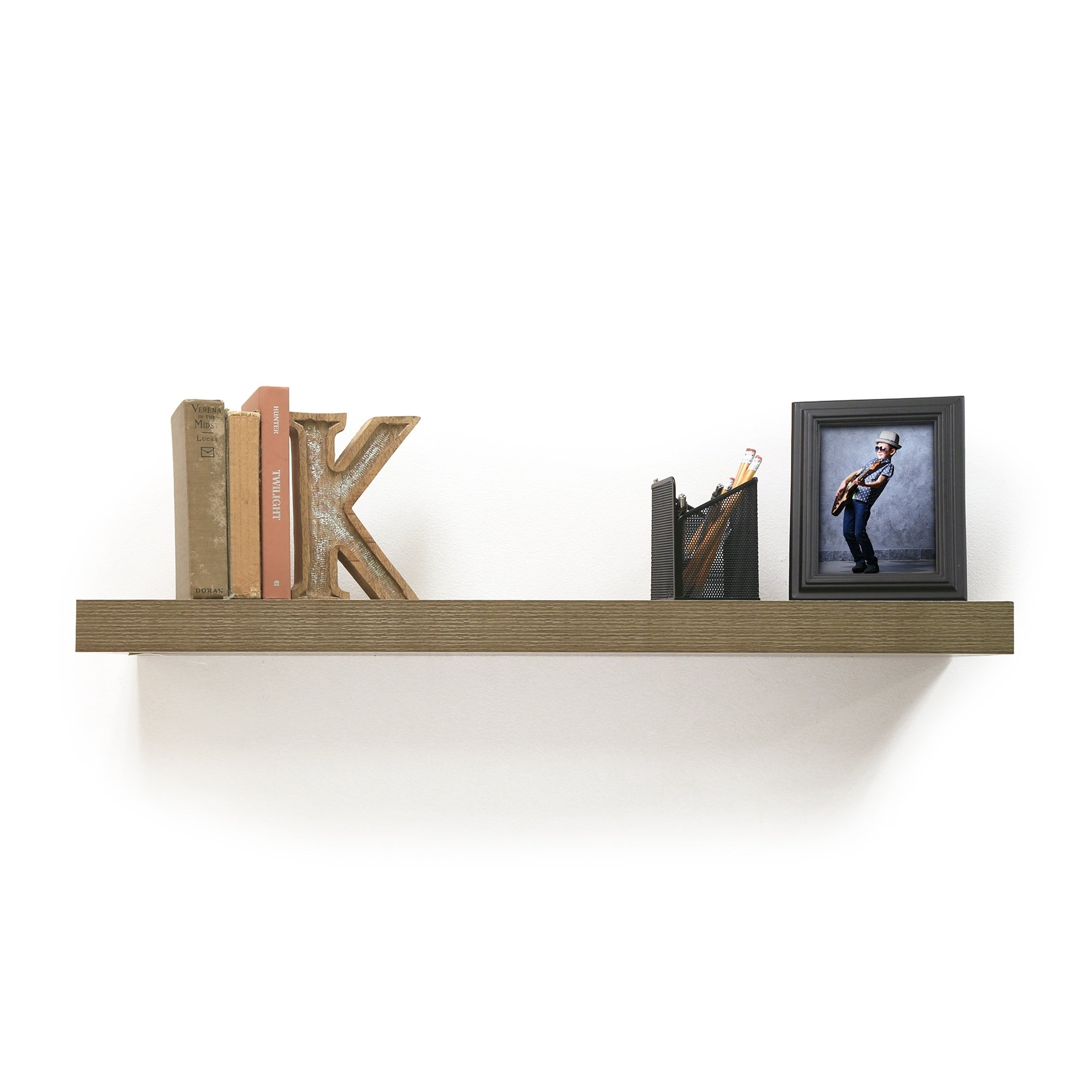 inplace inch grey oak floating shelf free shipping lewis hyman shelves mitre clothes airer vintage style brackets custom closet dimensions mosslanda ture ledge premade systems
