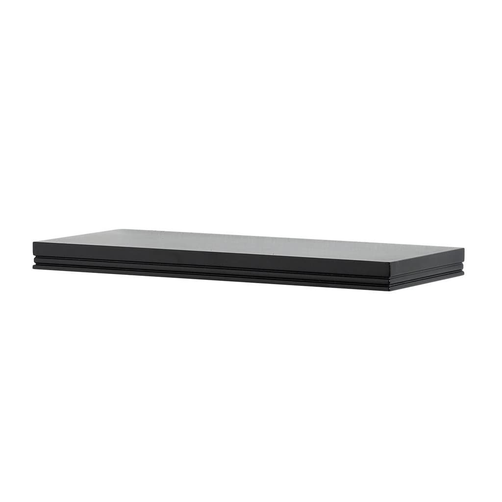 inplace inch warwick black floating wall shelf free lewis hyman collection inches wide shelves shipping orders over coat racks for the home vinyl tile preparation glass and towel