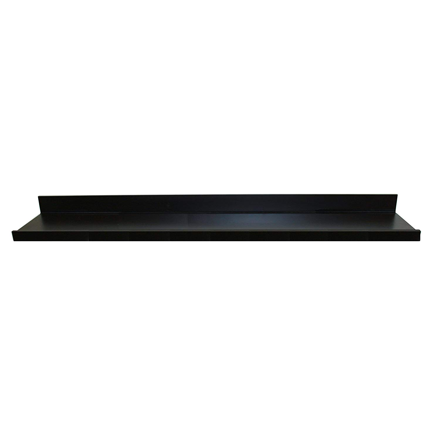 inplace shelving floating wall shelf with inch deep ture ledge black wide high home improvement fireplace surround and mantle pine unit computer desk under space corner display