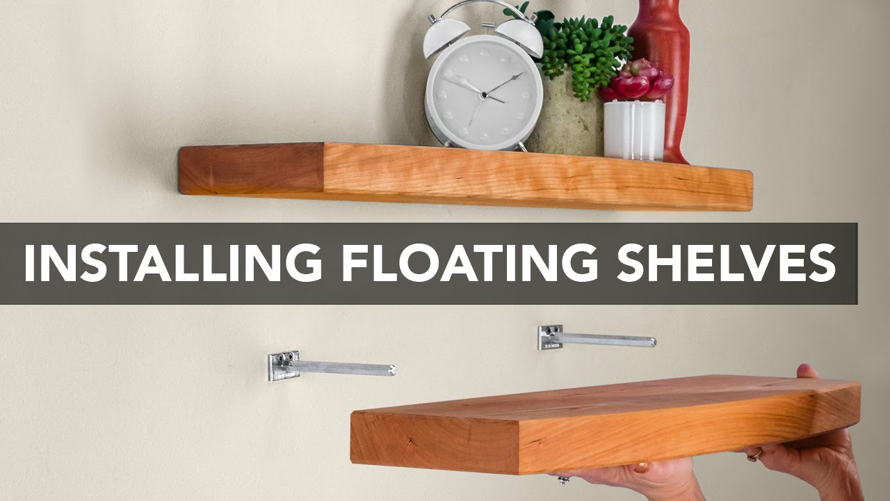 installing blind shelf support hardware floating invisible brackets microwave trolley wall wrought iron countertop broom closet organizer freestanding fireplace mantel build shoe