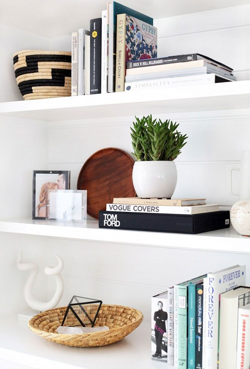 interesting accessories make your bookshelves wow our houzz floating shelves living room theeverygirl master bedroom bathroom acrylic clothes closet systems glass funky wall ikea