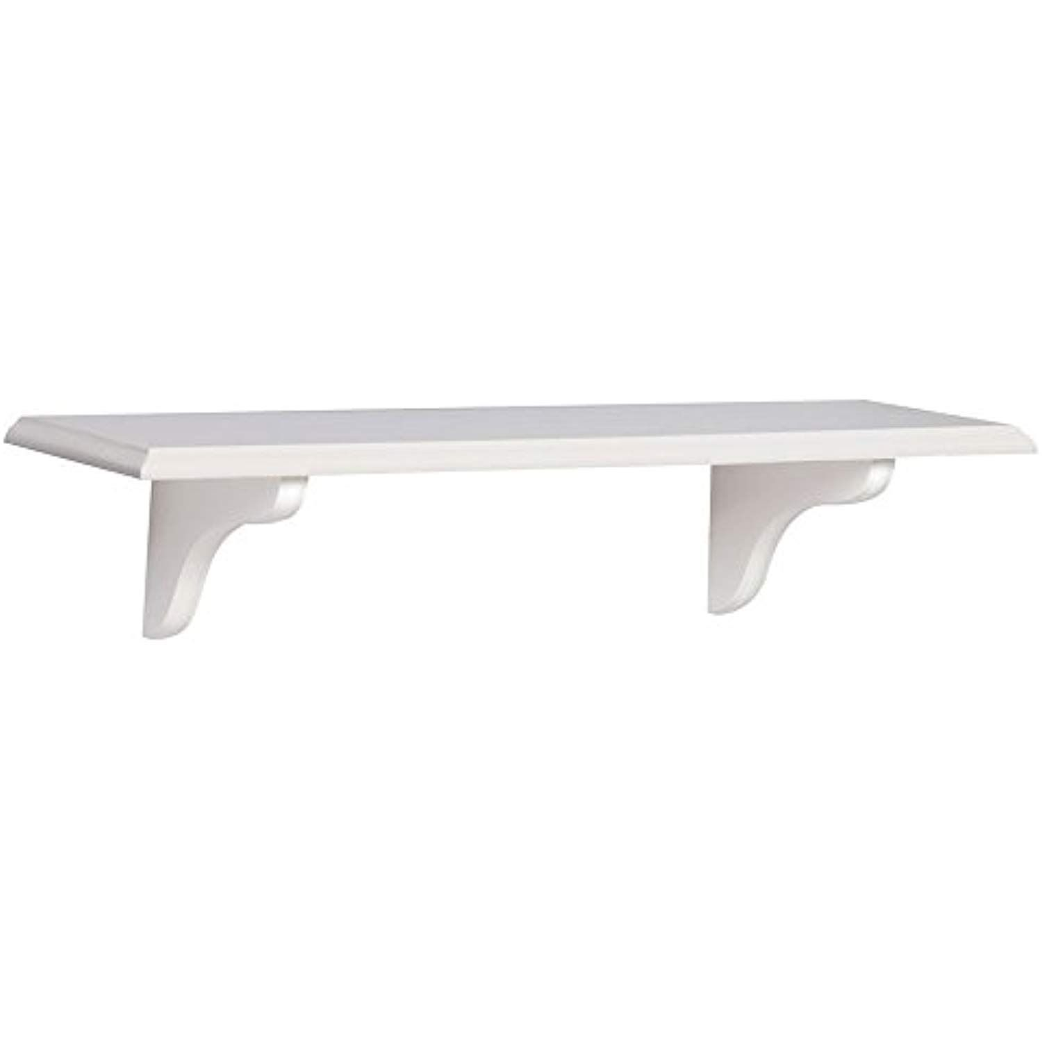 john sterling shelf made wood kit white inch floating continue the product link this affiliate wooden kitchen island table counter support brackets wall mount decorative accent