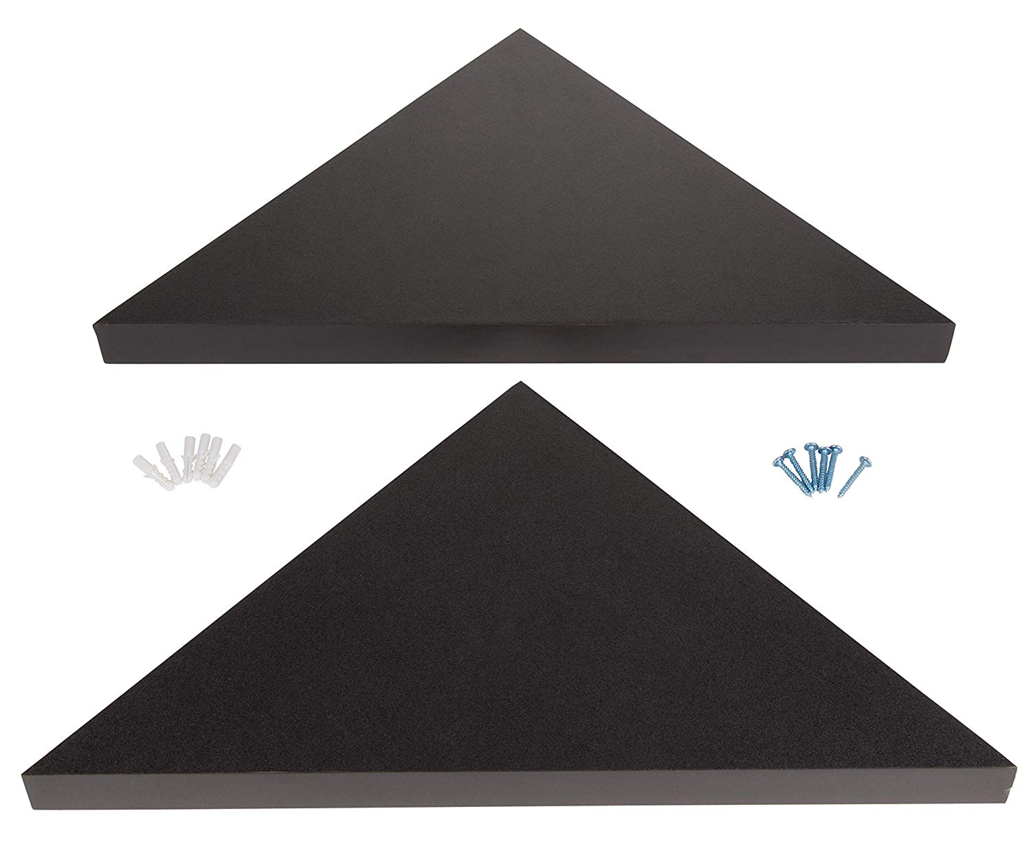 juvale floating corner shelf set triangle wall hanging decorative organizer includes installation hardware black pink shelves lacquer ikea shoe box desk organiser free glass