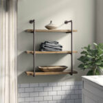 kennard tier wall shelf floating shelves with industrial pipes white tree coat rack closet system installation wood systems mounted bookcase fireplace mantel free standing metal 150x150