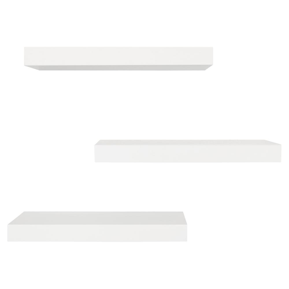 kiera grace white floating shelf pack decorative shelving accessories shelves with lights the ikea expedit unit dvd mantel baby shoe organizer espresso colored entryway essentials