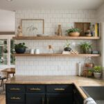 kitchen reveal with dark cabinets and open shelving floating shelves diy the blind shelf supports mahogany fireplace mantel support pins garage racks adjustable height jual 150x150