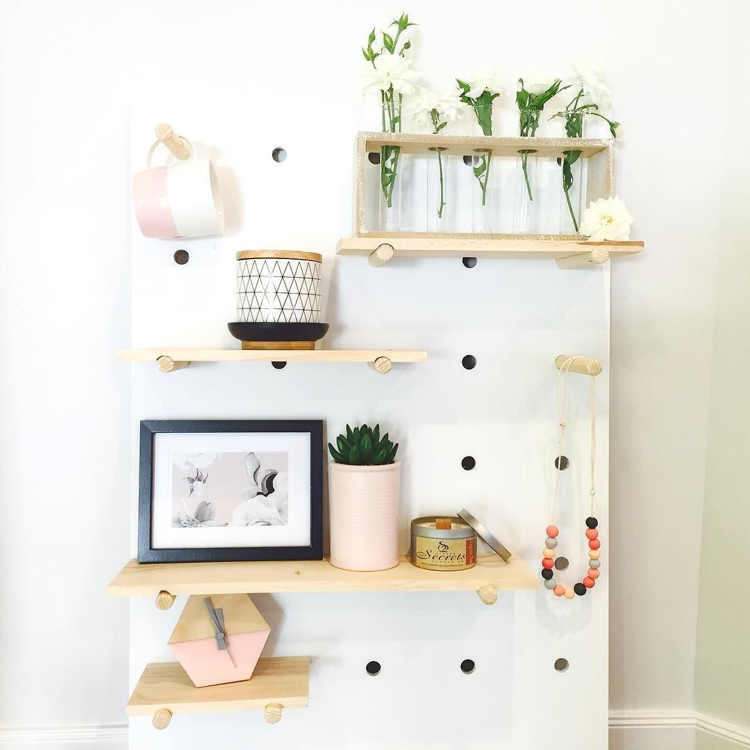 kmart pegboard with shelves shelfies home decor floating wall winsome regalia secretary desk large white shoe rack square cubby bookshelf glass shelving unit open organization