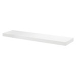 large white floating shelf kit big boy shelves high gloss security deep basin vonhaus black wood wall hooks standard bookshelf size kitchen cabinet height fence small decorative 150x150