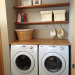 laundry room floating shelves made from oak doors stained and varnished ikea akerby green mobile island bench dust off canadian tire corner desk cabinet cherry wall shelf brackets 150x150