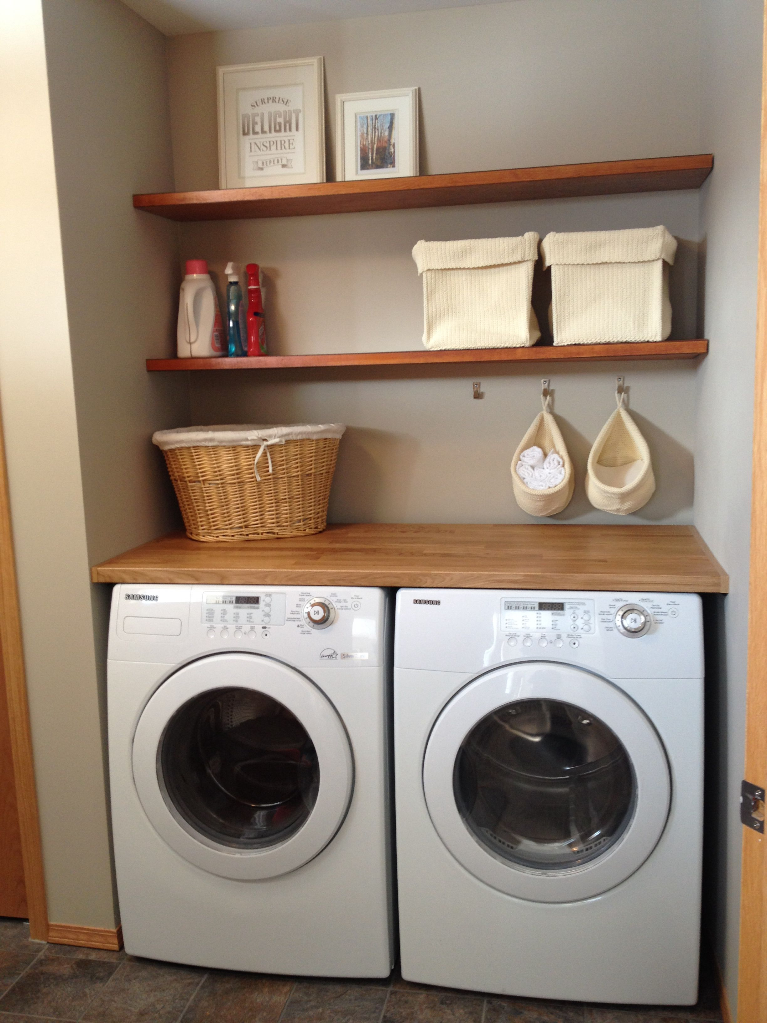 laundry room floating shelves made from oak doors stained and varnished ikea akerby green mobile island bench dust off canadian tire corner desk cabinet cherry wall shelf brackets