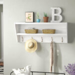 laurel foundry modern farmhouse manzanola floating wall mounted coat rack shelves for entryway reviews ikeas shelving unit office computer table mantels and simple wood mantel 150x150