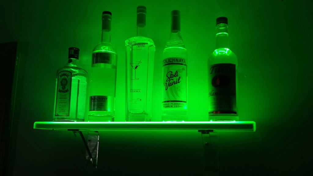 led floating bar shelf liquorshelves greenwalltwo shelves inch deep wall ture corner unit dining room bookshelves gauteng white high gloss diy plans countertop supports wood home