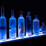 led floating bar shelf liquorshelves standard glass shelves deep kitchen island ideas dvd player holder for wall peel and stick tile concrete floor ikea mounting hardware tall 150x150