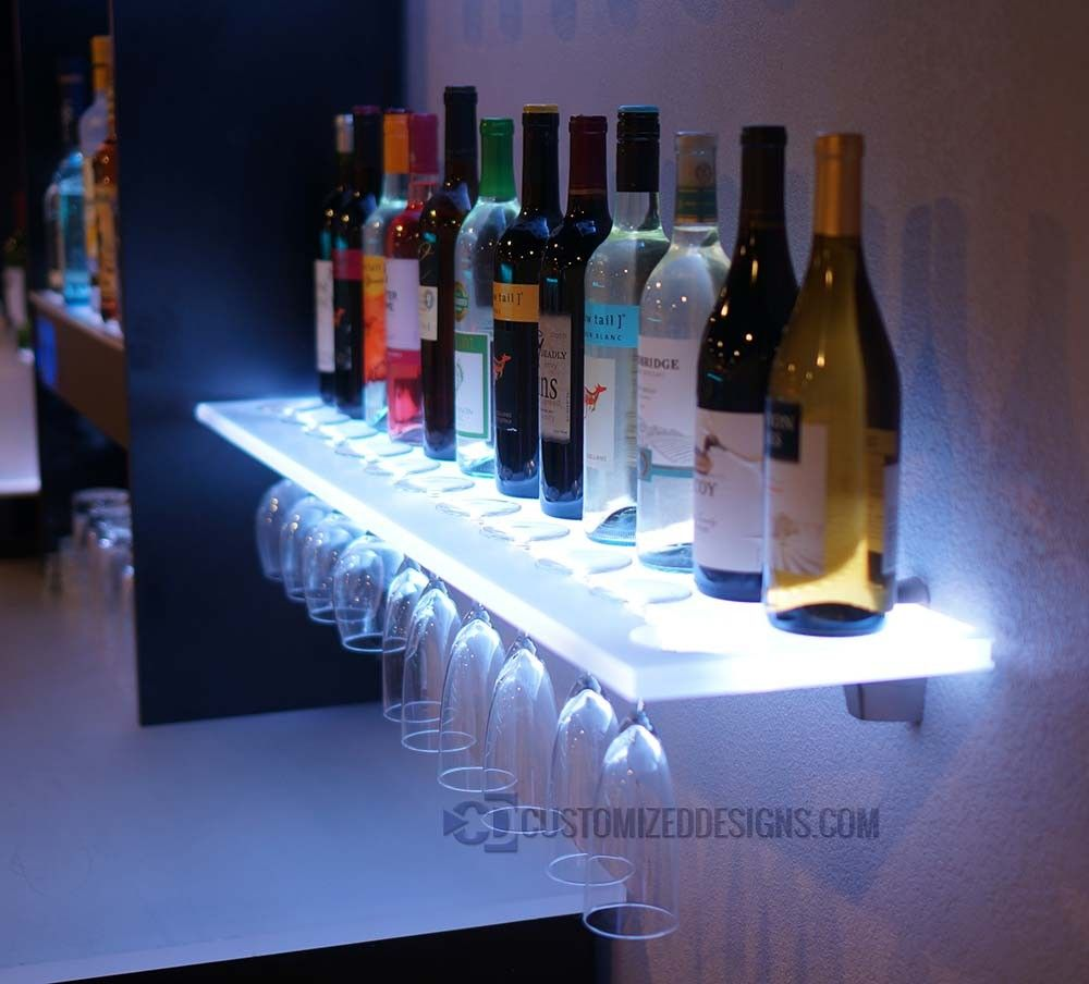 led wine glass rack shelving for the home floating shelves bar fridge canadian tire black ceiling lights small wood media cabinet garage french cleat welland chicago shelf wall