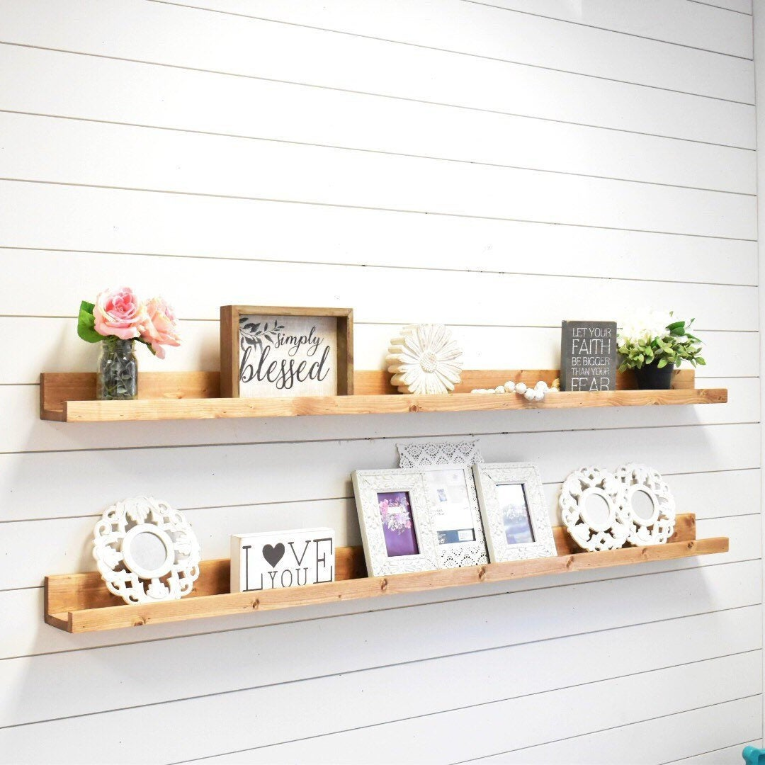 ledge shelf floating shelves wall ture etsy fullxfull bookshelf the kitchen brackets domestic shelving units false bottom box plans funky chunky furniture ikea ribba desk with