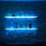 lighted display shelving for bars nightclubs restaurants and more floating glass bar shelves led gallery customized designs average closet shelf height industrial storage deep 150x150