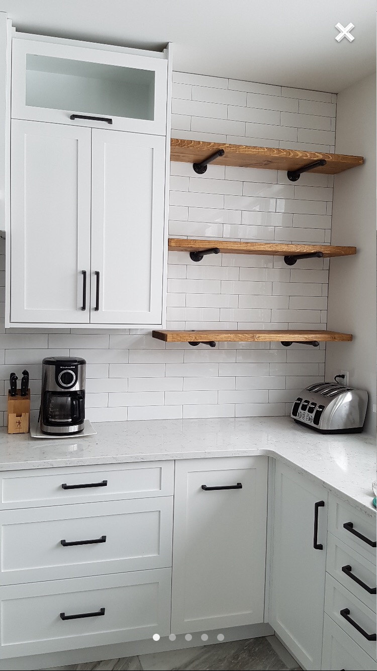like small section open shelves wood match flooring for kitchen floating things wall mounted cable box and dvd player diy timber island with microwave space stackable shoe storage